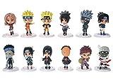CoolChange Set de 12 Mini Figuras Chibi de Naruto