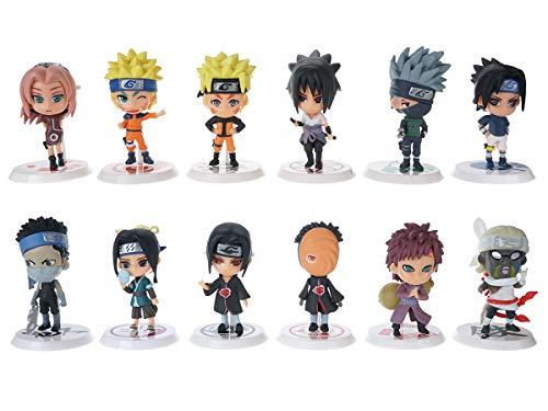 CoolChange Naruto Chibi Set mit 12 Mini Figuren