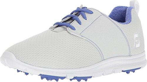 FootJoy Women's Enjoy-Previous Season Style Golf Shoes Grey 7.5 M, Light Periwinkle, US