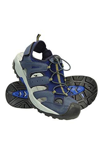 Mountain Warehouse Sandalias Rift Drainage Hombre - Calzado con Puntera de Goma, Forrado de Neopreno, Cierre de Correa - para Caminar, Vacaciones, Estar al Aire Libre Azul 45