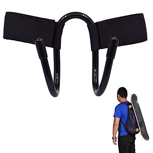 YYST Backpack Attachment Carrier Hanger Rack Hook Holder for Carrying Mini Cruiser, Cruiser Board,Skateboard - Fit Most Backpacks - Easy to Use - No Backpack