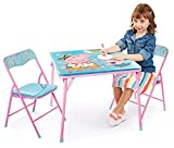 Kids Table & Chairs Set - Peppa Pig 3Piece Child Furniture (2 Padded Chairs & One Table 24'X 20'H) Activity Set Best for Playing, Reading, Eating, Art, Play Room, For Ages 3-7
