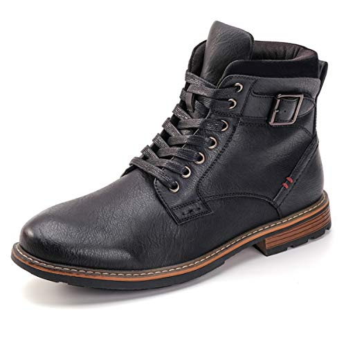 DREAMY STARK Men's Motorcycle Chukka Boots pair with jeans