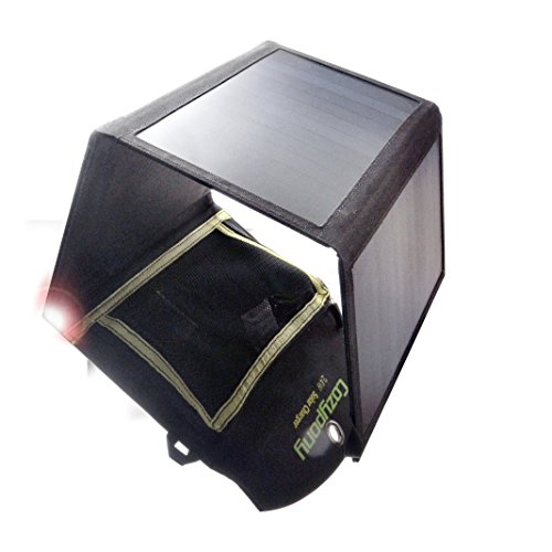 Dual-Port Solar Power Ladegerät von cozypony Hohe Effizienz Solarpanel Ladegerät Tragbar Faltbar Outdoor für Reise, Camping, Wandern und Outdoor Aktivitäten kompatibel mit Laptop iPhone iPad, Handy, Samsung, Kamera, MP4, MP5und viele anderen 5V USB-Geräte