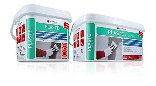 TAPA GRIETAS DE EXTERIOR GRIS Mortelan Plaste exteriores 4,5kg LISTO AL USO...