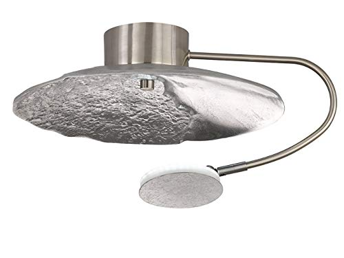 LED Deckenleuchte Honsel Rennes 20365 Lampe Silber Fernbedienung Dimmbar