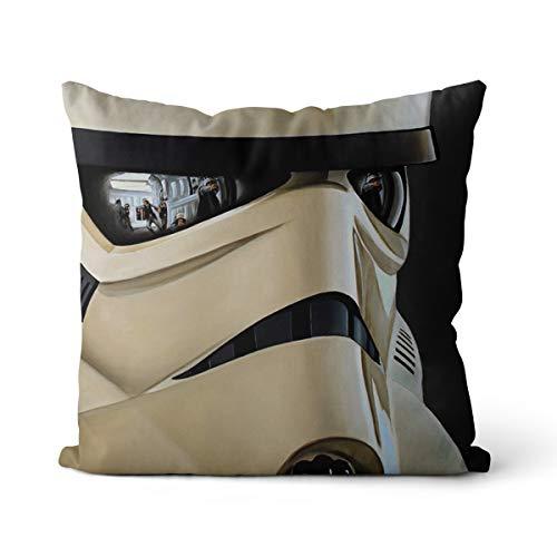 Dekorative Kissen Stormtrooper EIN Kissenbezug Solid Square Cushion Cotton der holländische Samt Kissenbezüge Home Decor für Sofa Auto Schlafzimmer 15.7
