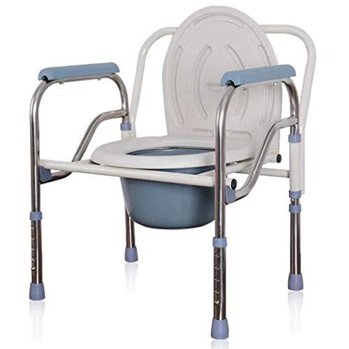 PPOIU Silla con Inodoro y Borde de Inodoro Inodoro Ajustable Junto a la Cama para Adultos Ligero, Resistente, Simple