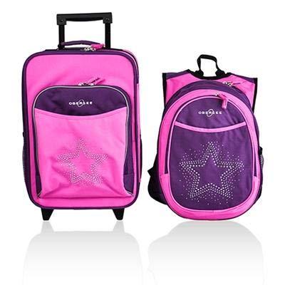 Luggage Rolling Backpack Toiletry Rhinestone