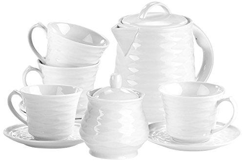 Rosenstein & Söhne Tafelservice: Porzellan-Kaffee- & Tee-Service, 10-tlg, für Wasserkocher WSK-270.rtr (Porzellan-Geschirr)