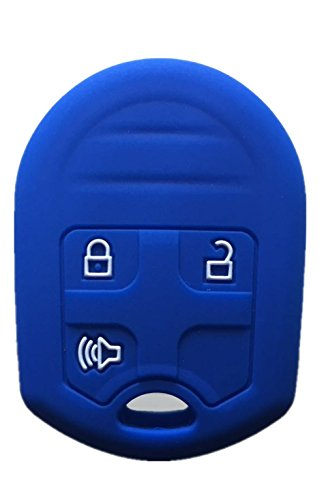 Rpkey Silicone Keyless Entry Remote Control Key Fob Cover Case protector Replacement Fit For Ford E-150 E-250 E-350 Super Duty F-150 F-250 F-350 Explorer Edge Flex Fusion CWTWB1U793 164-R8070