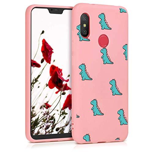 ZhuoFan Funda Xiaomi Mi A2 Lite, Cárcasa Silicona Rosa con Dibujos Diseño Suave TPU Antigolpes de Protector Piel Case Cover Bumper Fundas para Movil Xiaomi Mi A2Lite / Redmi 6 Pro, Cocodrilo Verde