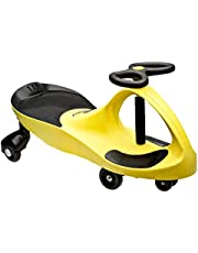 The Original PlasmaCar by PlaSmart  Yellow  Ride On Toy, Ages 3 yrs and Up, No batteries, gears, or pedals, Twist, Turn, Wiggle for endless fun