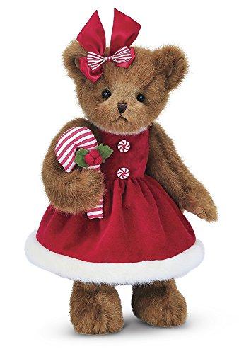 Bearington Christa Cane Christmas Stuffed Animal Teddy Bear, 14 inches