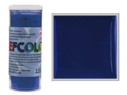 EFCOLOR emailleerpoeder, 10 ml, dekkend, lage temperatuur, donkerblauw