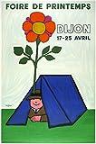 Dijon Poster Frühling Kunstdruck Poster, Format 50 x 70