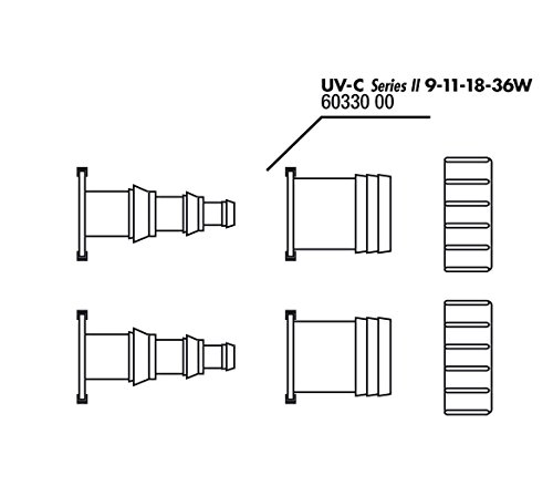 JBL Tüllen12-25 u.32mm+Mutter für UV-C 9-36W