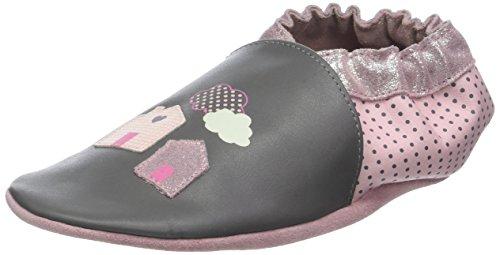 Robeez HOMESWEETHOME, Chaussures de Naissance Garçon Unisex Kinder, Gris (Gris Foncé 122), 25 26 EU