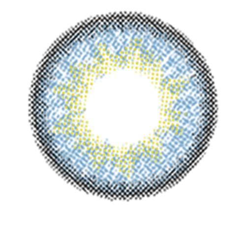 Matlens – EOS Farbige Kontaktlinsen ohne Stärke sapphire saphirblau Big eyes G-306 2 Linsen 1 Kontaktlinsenbehälter 1 Pflegemittel 50ml