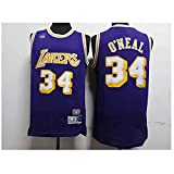 Camisetas Lake # 34 Shaquille O'Neal,Ropa Jerseys de Baloncesto para Hombre, Comfort Classic Comfort Camiseta Transpirable Camiseta Uniformes Deportivos Tops, Más cómodo, mejor calida(Size:L,Color:G1)