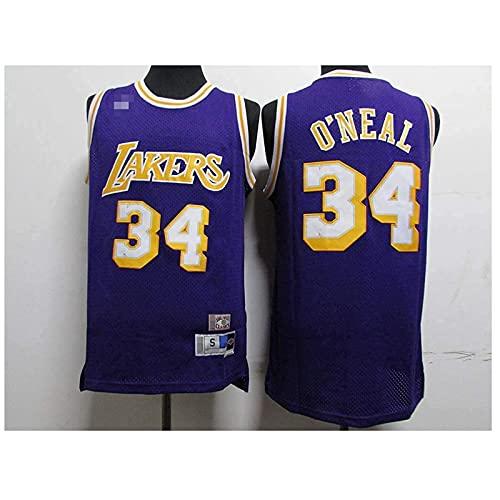 Camisetas Lake # 34 Shaquille O'Neal,Ropa Jerseys de Baloncesto para Hombre, Comfort Classic Comfort Camiseta Transpirable Camiseta Uniformes Deportivos Tops, Más cómodo, mejor ca(Size:SG,Color:G1)