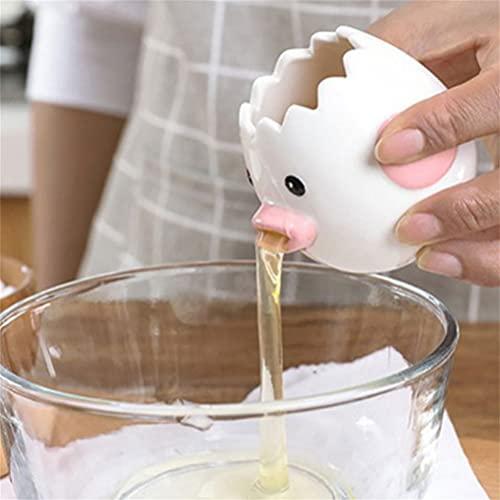 Gladwill Cartoon Chicken Egg Yolk White Separator, Ceramics Cartoon Chick Household Baking Tool Supplies, Kitchen Gadget Cooking, Cute Egg Separator for Home kids Housewife, Dishwasher Safe