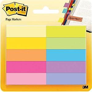 Post-It 670-5CA-EU – Pack de 5 mininotas, 12.7 x 44.4 mm, multicolor
