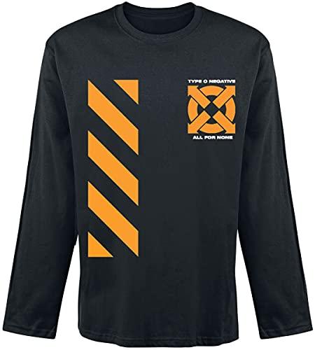 Type O Negative Be A Man Hombre Camiseta Manga Larga Negro L, 100% algodón, Regular