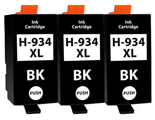 3 Cartuchos de Tinta Compatible con HP 934 934XL Negro para HP OfficeJet 6200 6230 6235 6239 6800 6812 6815 6820 6822 6825 6830 6835