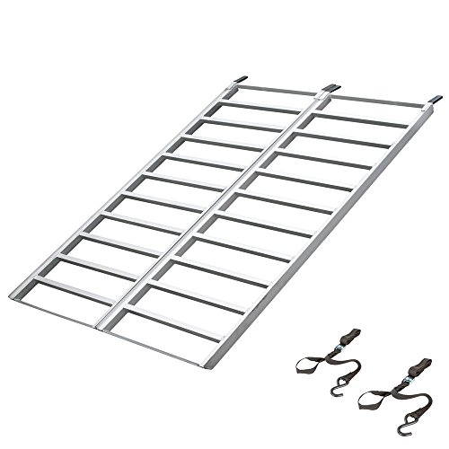 "Black Widow IBF-7148 Aluminum 5' 11"" Bi-Fold ATV Ramp"