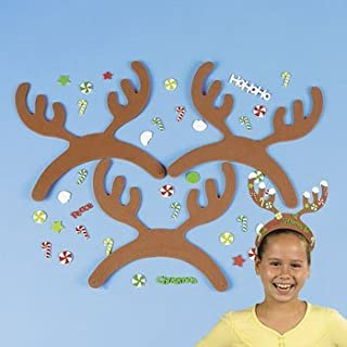 Fabulous Foam Reindeer Antlers With Stickers - Crafts for Kids & Hats & Masks