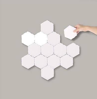 Aplique de pared para interiores, inducción del cuerpo humano, tecnología red red black, costuras hexagonales de nido de abeja, fuente de alimentación de distribución-6 6