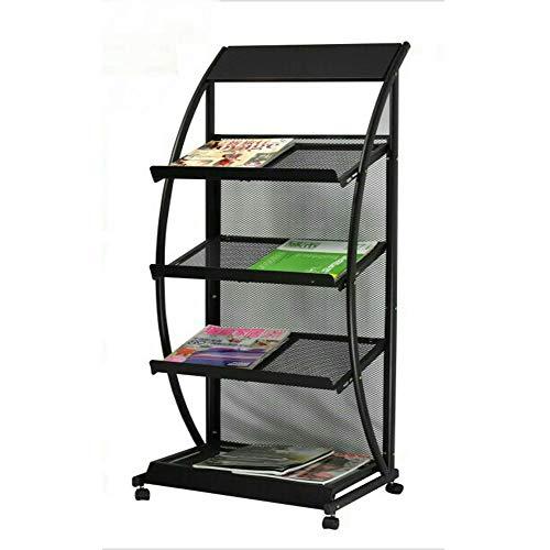 DQM grote gebogen A4 Brochure Display Stand, Iron Multi-Layer Eenvoudige Boekenplank, Geschikt voor hotels, winkelcentra, bibliotheken, gemakkelijk uit te nemen of plaats uw boeken, maken volledig gebruik van de ruimte