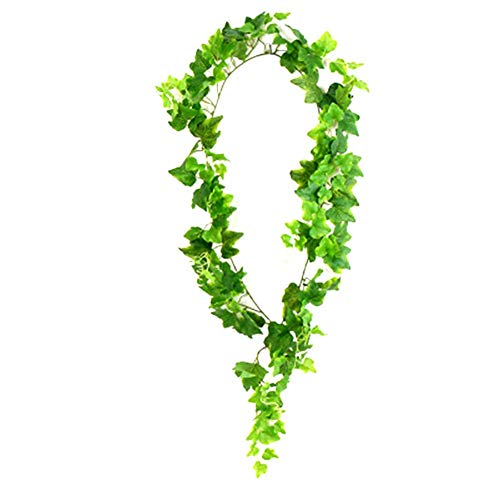 Demarkt 1 flor artificial colgante de mimbre, hiedra artificial, decoración de pared, decoración de fiesta