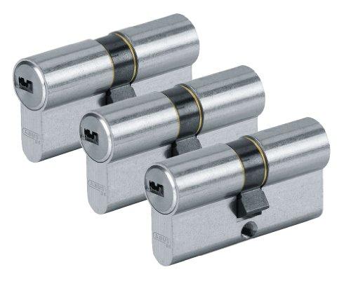 ABUS D6N30/30 C/F TR Cylindre nickelé D6 30 x 30 mm par 3
