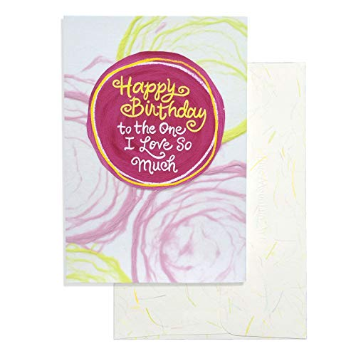 """Blue Mountain Arts Greeting Card """"Happy Birthday to the One I Love So Much"""" — Handmade Paper Card Expresses Love and Appreciation for Your Soul Mate on Their Birthday and Every Day"""