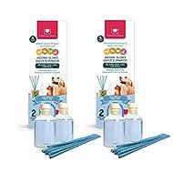 CRISTALINAS Pet Odour Eliminating Reed Diffuser, Air Freshener, 2 x 30ml Refill Pack, Fresh Air, Pac...
