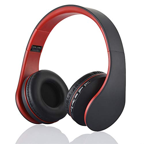Docooler Auriculares Diadema Inalámbricos,Auriculares estéreo Plegables inalámbricos Bluetooth 4.1,Auriculares con Cable de...
