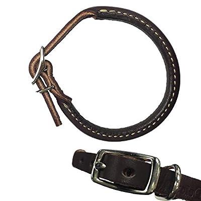 "Coastal Pet Products Circle T Leather Round Dog Collar, 3/8"" x 12"", Latigo"