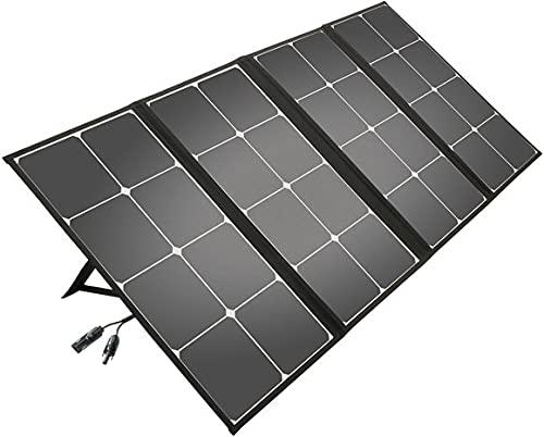 Litionite Arun 110W Panel solar plegable y portátil con soporte inclinado - Conexión DC - Ampliable para pequeño sistema solar - Cargador para generador de energía eléctrica/Power Generator