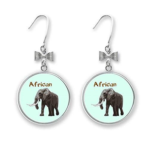 Asien Afrika Sauger Elefant Schleife Ohrringe Ohrhänger Ohrhänger Ohrhaken