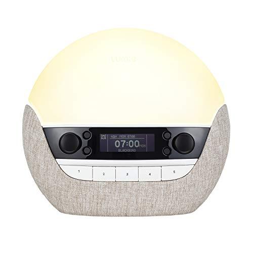Lumie Bodyclock Luxe 700FM - Lichtwecker, UKW-Radio, Bluetooth Lautsprecher & Wenig Blaulicht für Schlafenszeit