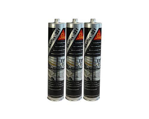 3x Sikaflex -221 Dichtstoff Karosseriedichtmasse Spoilerkleber Schwarz