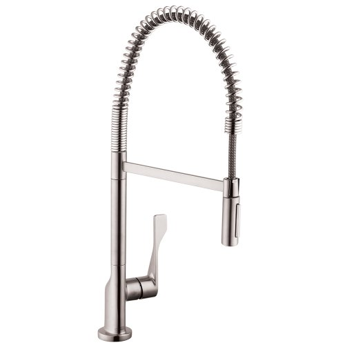 AXOR Citterio Luxury 1-Handle 25-inch Tall Kitchen Faucet with with QuickClean in Chrome, 39840001