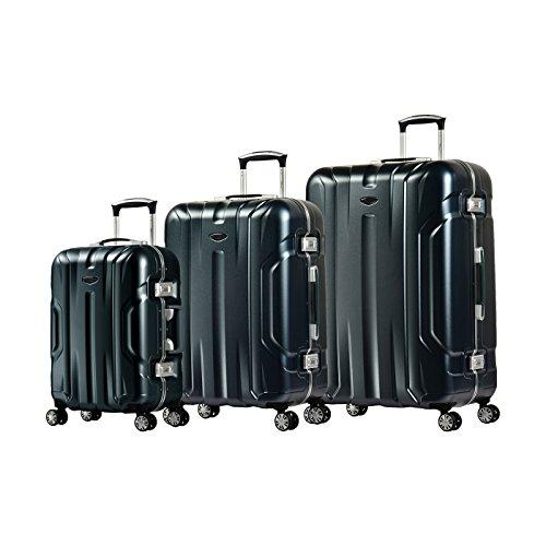 Eminent Set di valigie Gold X-Dream 3pcs Telaio in alluminio 4 Ruote doppie silenziose Lucchetto TSA Grafite