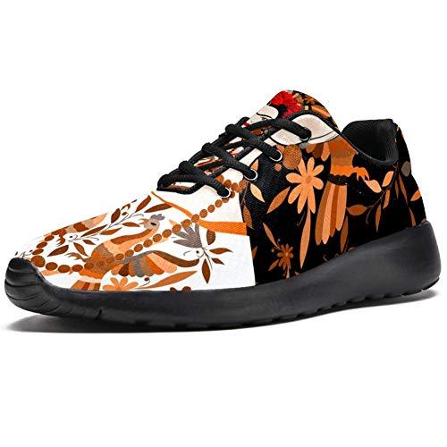 TIZORAX Sport-Laufschuhe für Frauen Frida Kahlo Traditionelle Frisur mexikanische Frau Mode Sneaker Mesh Atmungsaktiv Walking Wandern Tennis Schuh, Mehrfarbig - mehrfarbig - Größe: 41 EU