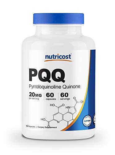Nutricost PQQ (Pyrroloquinoline Quinone) 20mg, 60 Capsules - Vegetarian Capsules, Non-GMO, Gluten Free