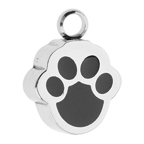 Baoblaze Metal Perro Mascota Cachorro Pata Grabado Huella Encanto Colgante para Joyería Collar...