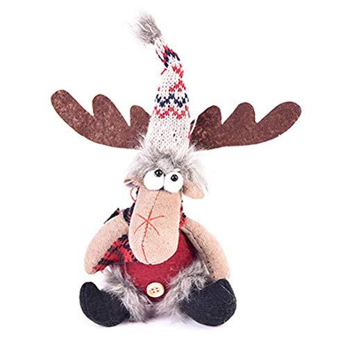 Elch Plüschtier, Weihnachtsdeko Figur Hirsch Kuscheltier Stofftier Weihnachtsschmuck Weihnachts Neujahrs Geschenke fur Kinder