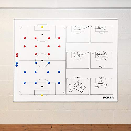 FORZA Wall Mounted Soccer Coaching Board – 5ft x 4ft Double-Sided Tactics Board